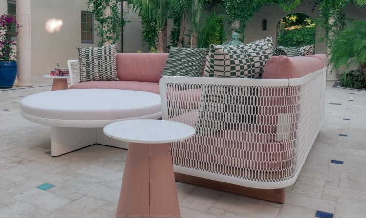 Outdoor pink sectional